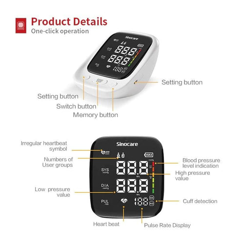 SINOCARE Blood Pressure Monitor Body Devices