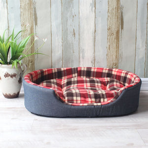 Luxury Pet Kennel House Warm Large Dog Bed Cat Cushion Mat Sofa for Big Dogs Cama Para Cachorro Puppy Teddy  Sofa S M L XL Size