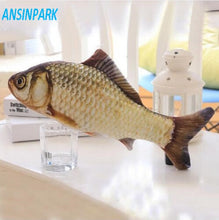 Load image into Gallery viewer, ANSINPARK cat fish toy plush stuffed dog toy fish shaped cat toy scratching Lovely Pet cats catnip Scratch resistance 1pcs f88