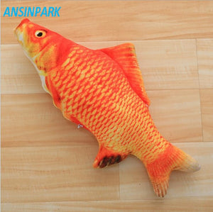ANSINPARK cat fish toy plush stuffed dog toy fish shaped cat toy scratching Lovely Pet cats catnip Scratch resistance 1pcs f88