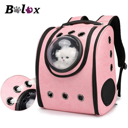 Cat Backpack Breathable Travel Leather Shoulder Bag for Pet Cat Soft Capsule Bag Carrying Outdoor Portable Packaging Carrier