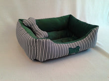 Load image into Gallery viewer, HOT ,Good Quality Stripe Square Shape Puppy Sleeping Dog Bed For Small Medium Dogs Kennel Cat Nest Chihuahua Pet House