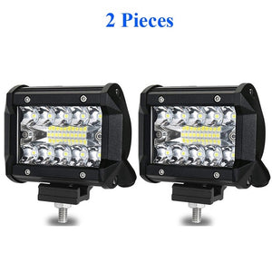 LYKAS 4 Inch LED Work Light Bars 60W Combo Beam for Offroad Motorcycle Boat Car Truck Tractor 4x4 ATV SUV 12V 24V 6000K
