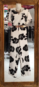 White with Black Flowers Pantsuit 2 x $69 11