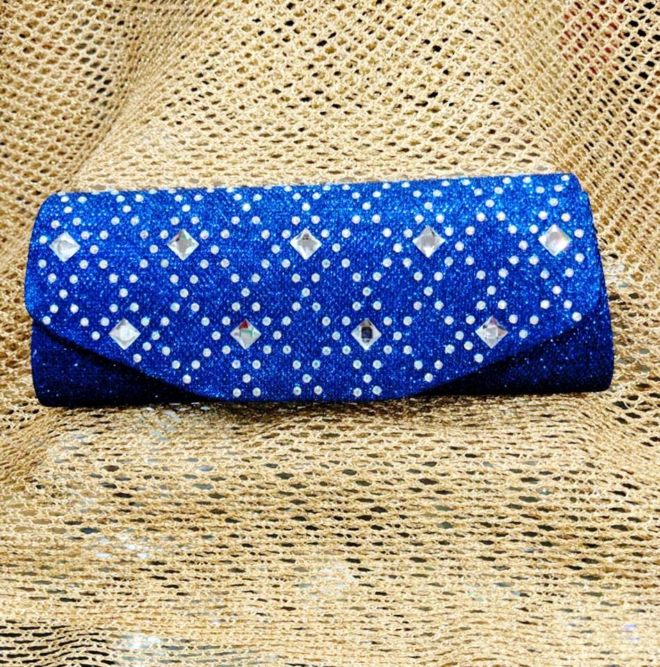 Blue Diamante Clutch