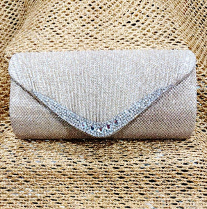 Gold and Sliver Diamante Clutch