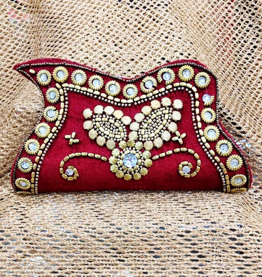 Red and Gold Diamante Clutch