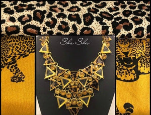 Leopard Chunky Statement Necklace
