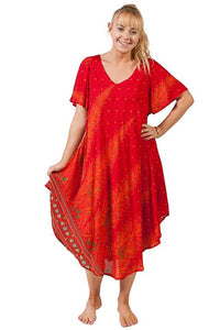 Short Sleeve Summer Rayon Dress
