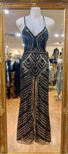 Internationally Published Black & Gold Stunning Dress