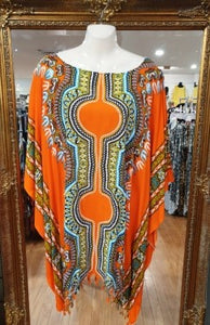 Dashiki Print Kaftan Top