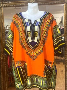 Dashiki Print Tops XL