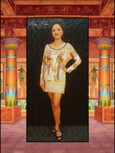 Egyptian Print Top/Short Dress