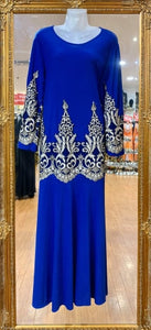 Embroidered Long Sleeve Dress