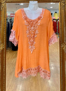 Beaded Cotton Top