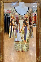 Load image into Gallery viewer, Egyptian Print Top/Short Dress