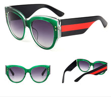 Load image into Gallery viewer, Crystal Oval Designer Inspired Sunglasses