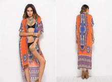 Load image into Gallery viewer, African Dashiki Print Kimono Jacket 6 Colors