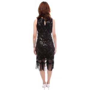 1920s Gatsby Flapper Sequin Fringe Dress