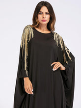 Load image into Gallery viewer, Black & Gold Embellished Kaftan