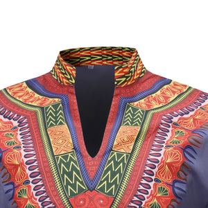 Dashiki Mens V Neck Shirt M - 3XL