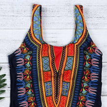Load image into Gallery viewer, African Dashiki Print One Piece Swimsuit L - XXXL