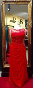 Sha Sha Bling Embellished Red Evening Dress XL