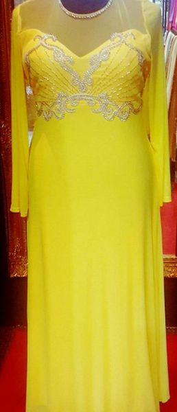 Sha Sha Butterfly Bling Embellished Yellow Evening Dress XL