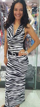 Load image into Gallery viewer, Zebra Sexy Stretch Evening Dress