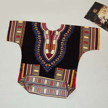 Load image into Gallery viewer, Unisex African Dashiki Print Tops with Pockets