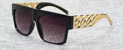 Celebrity Inspired Gold Metal Chain Sunglasses