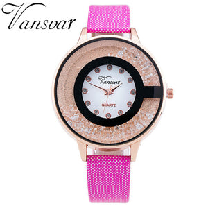 Rhinestone Quartz Watch 7 Colors Available