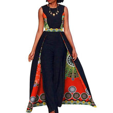 Load image into Gallery viewer, African Dashiki Print Fashion Pantsuit with Skirt
