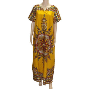 African Print Dashiki Kaftan Dress