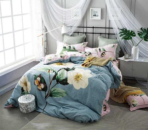 100% Cotton  duvet cover 4 piece set