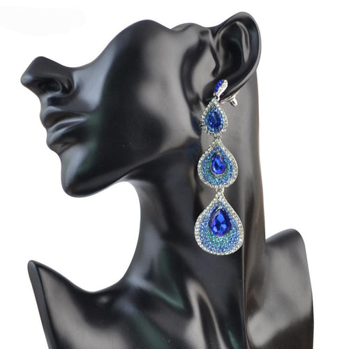 Tiered Waterdrop Earrings 5 Colours