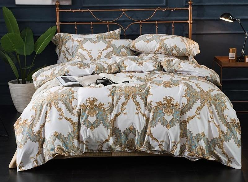 100% Egyptian cotton 4 Piece Bedding Set