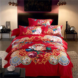 100S Egyptian cotton Luxury Royal 4 piece Duvet cover set