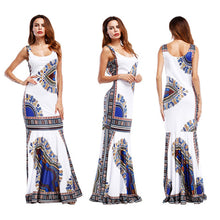Load image into Gallery viewer, African Dashiki Print Bodycon Mermaid Long Maxi Dress