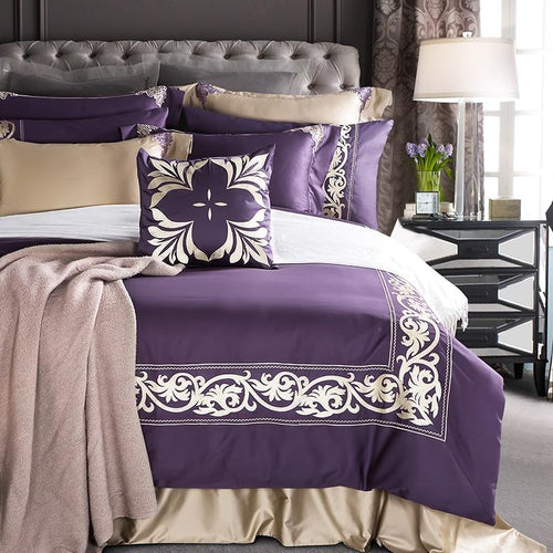 100% Cotton Embroidery Luxury Bedding 4 piece set