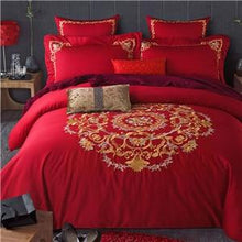 Load image into Gallery viewer, Egyptian Cotton Bedding Sets Bedsheet Pillowcases Duvet Cover Set