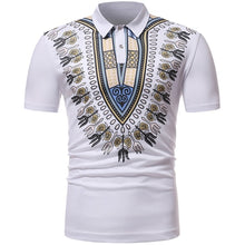 Load image into Gallery viewer, Mens African Dashiki Print Polo Shirt M - 2XL 10 Colors Available
