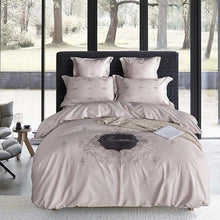 Load image into Gallery viewer, 4Pcs Silver Blue Luxury Egyptian cotton Bedding set Duvet cover Bedsheet set pillowcase