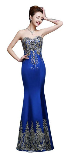 Sleeveless Embroidered Evening Dress Size 6 - 20