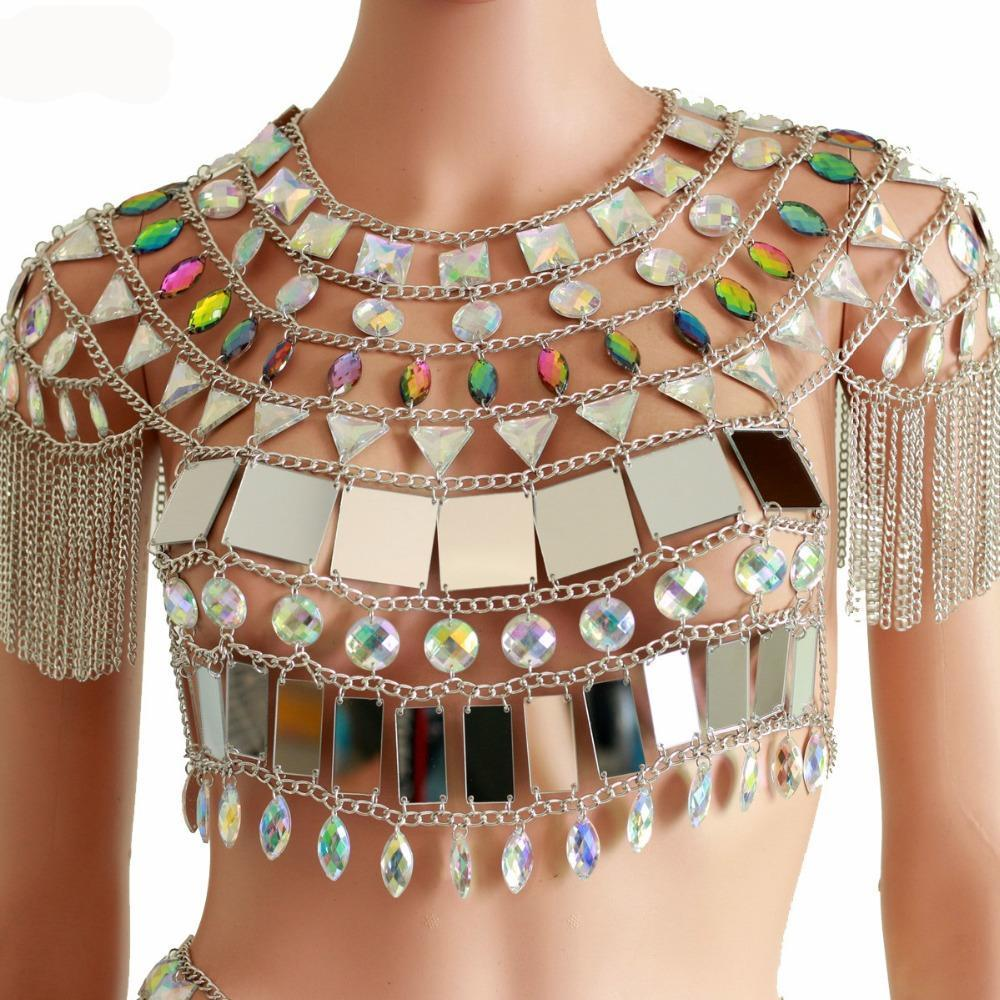 Amazing Mirror Tank Top / Body Jewellery Adjustable