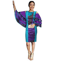 Load image into Gallery viewer, African Dashiki Print Dress with Ruffle Sleeves M - 6XL