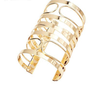 Load image into Gallery viewer, Long Cuff Bracelet Gold & Silver Available