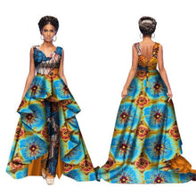 Load image into Gallery viewer, African Dashiki Print Jumpsuit with Skirt S to 6XL 10 Colours Available