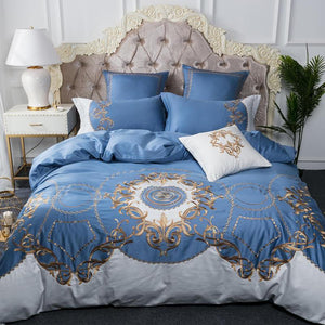 Luxury Bedding Set 100% Egyptian cotton embroidery bed cover set