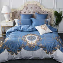 Load image into Gallery viewer, Luxury Bedding Set 100% Egyptian cotton embroidery bed cover set